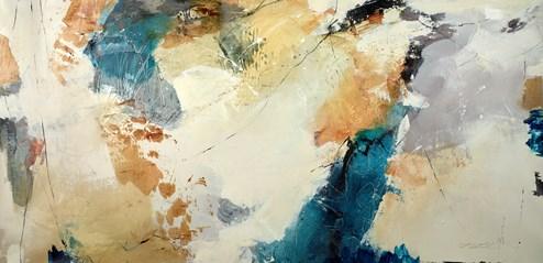 Wheat Fields by Natasha Barnes - Original Painting on Box Canvas